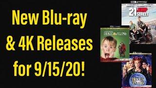 New Blu-ray & 4K Releases for September 15, 2020!
