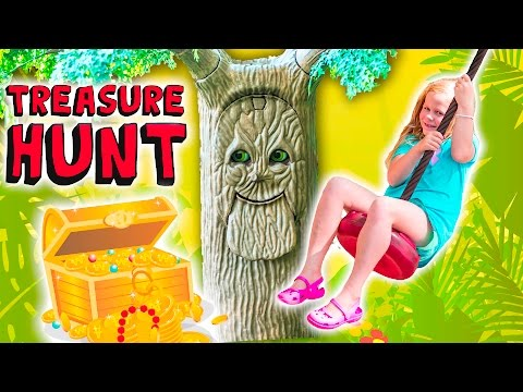 The Assistant Meets the Talking Tree on a Outdoor Treasure Hunt
