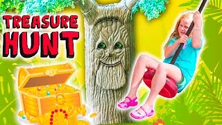 The Assistant Meets the Talking Tree on a Outdoor Treasure Hunt thumbnail