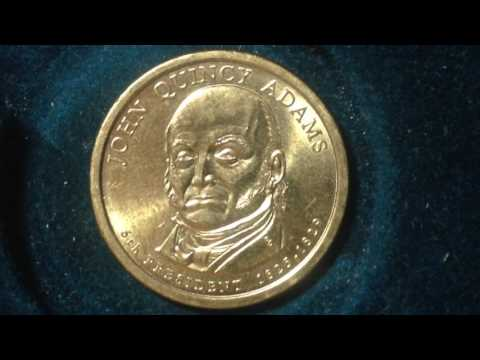 Presidential Dollar Coin: 2008 John Quincy Adams (88.5% CU)