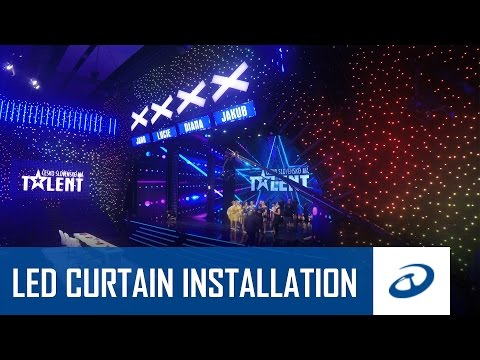 LED Strip Studio - LED curtains for Got Talent 2016 - Installation