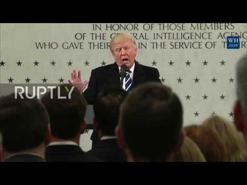 USA: Trump slams media, claims 1000% support for CIA during first HQ visit