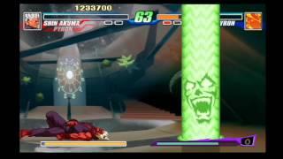 Capcom Fighting Evolution - Shin Akuma/Gouki & Pyron Playthrough