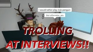 ROBLOX TROLLING AT HILTON INTERVIEWS AND PASSED!