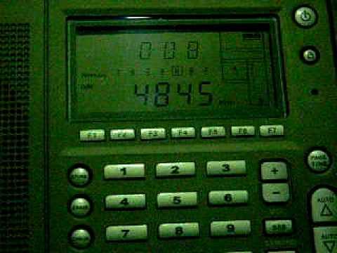 Radio Mauritania 4845 kHz received in Germany on Eton E5