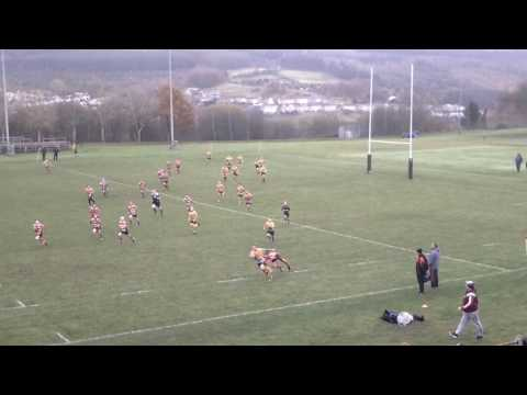 Ethan Phillips aka Batman 13 year old rugby player scores a try from his own try line