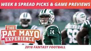 2018 Fantasy Football — Week 8 Spread Picks, NFL Game Previews & Best Halloween Candy + Movies