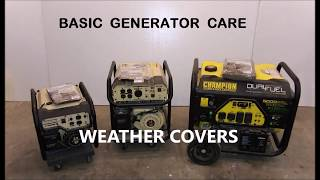 Portable Gas Generator Care, the Best generator covers