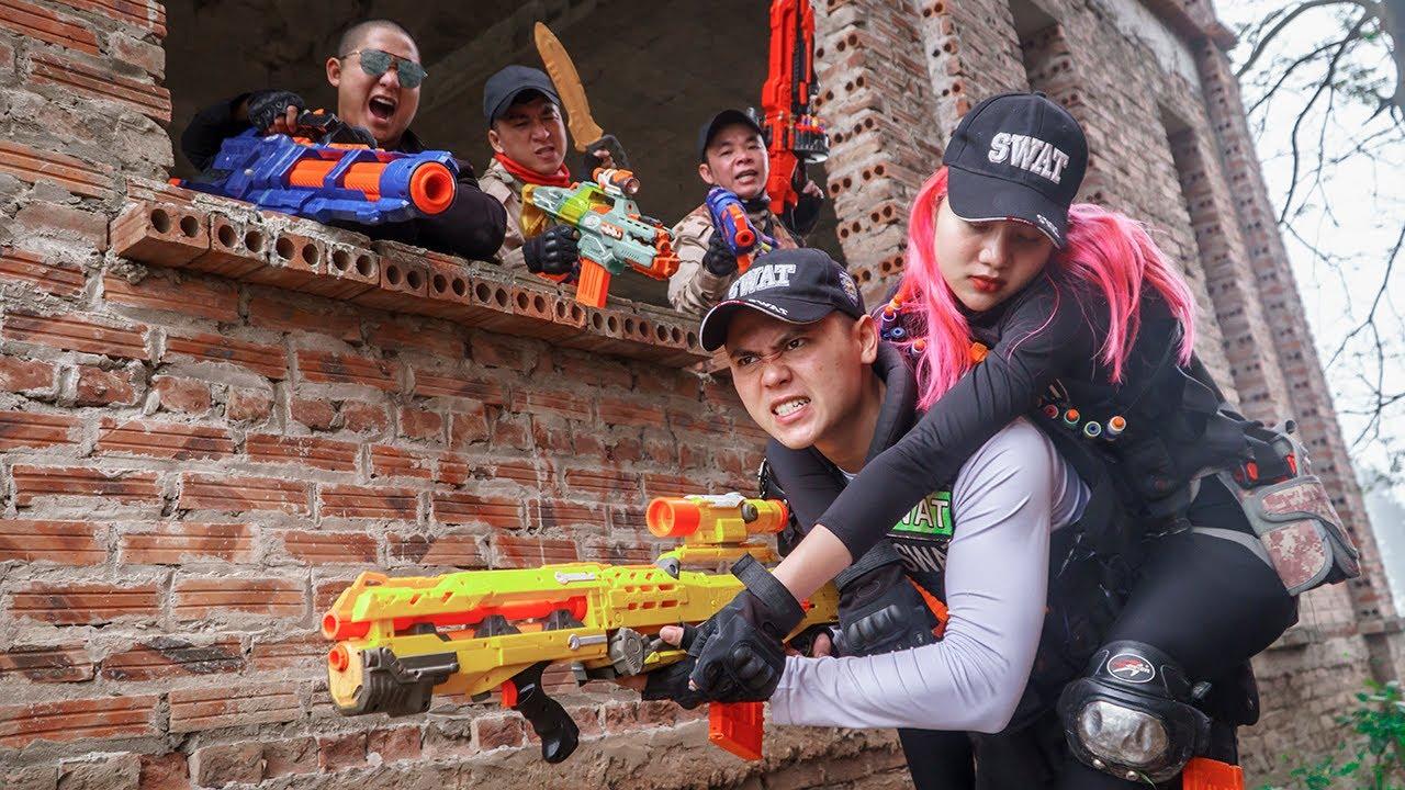 LTT Game Nerf War : Couple Warriors SEAL X Nerf Guns Fight Rocket Crazy The Avenger Traitor