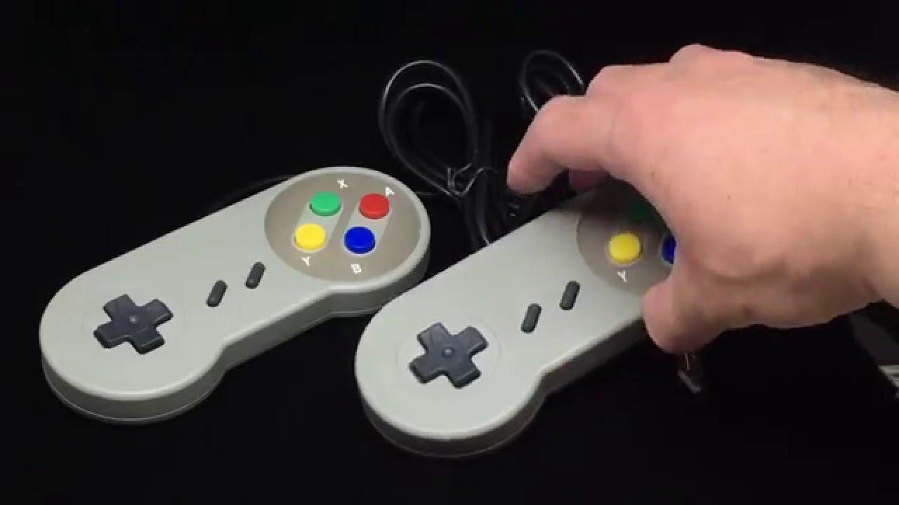 classic retro super nintendo snes usb controller gamepad joypad for