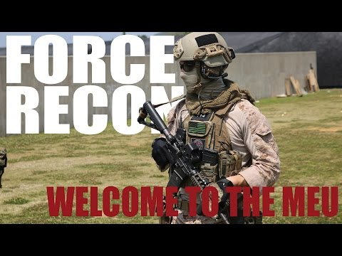 Welcome to the MEU: Force Recon