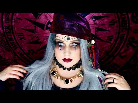 DARK FORTUNE TELLER MAKEUP TUTORIAL | Fortune Teller Halloween ...