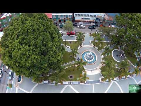 Adjuntas, Puerto Rico, Plaza, Lago Garzas - Drone Video