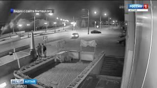 Злоумышленники, сбросившие шары с моста через Барнаулку, попали в объектив камер видеонаблюдения