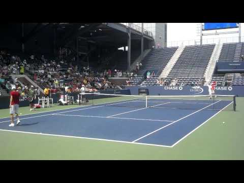 Mardy Fish And Lleyton Hewitt US Open 2012 Practice (Part 2)