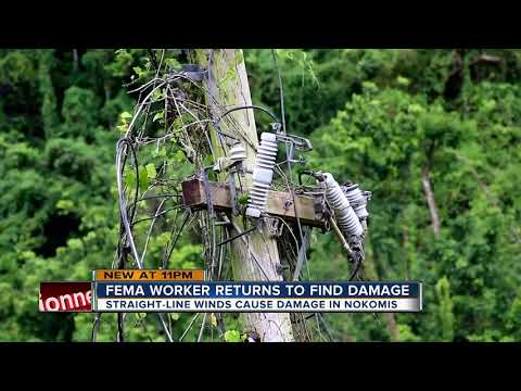 FEMA worker returns home from Puerto Rico to discover storm damage of his own