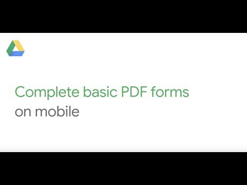 Complete a PDF on mobile