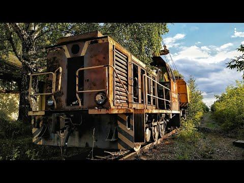 Заброшенная железная дорога. Встретили поезд - призрак. Ржавые вагоны и локомотивы. Заросшие станции