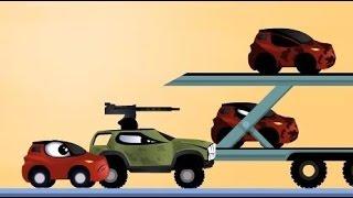 Машинки Побег красной машинки от бандитов  Мультики про машинки