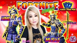 NEW SKINS MUSHA/HIME GAMEPLAY! FORTNITE BATTLE ROYALE!