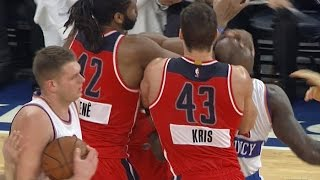 Quincy Acy ejected for flagrant foul on John Wall (punch?) on Christmas: Wizards at Knicks
