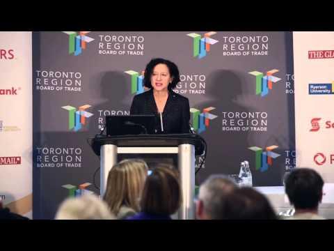 Dr. Sara Diamond at the Toronto Region Board of Trade - 2015