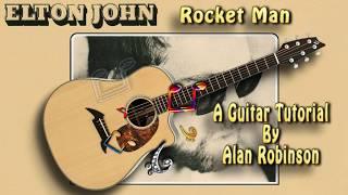 Rocket Man - Elton John - Acoustic Guitar Lesson (easy-ish)