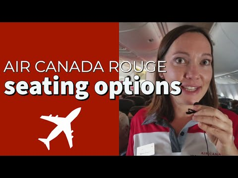Air Canada Rouge Seating Options