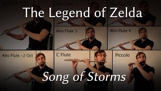 Legend of Zelda: Song of Storms for Flute Octet