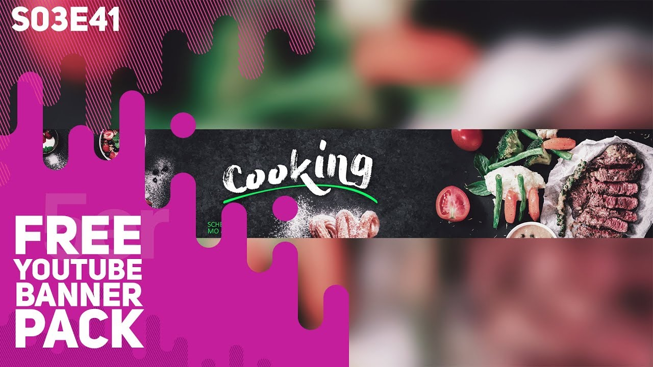 Free Youtube Banner Pack Cooking 5ergiveaways S03e41 Youtube