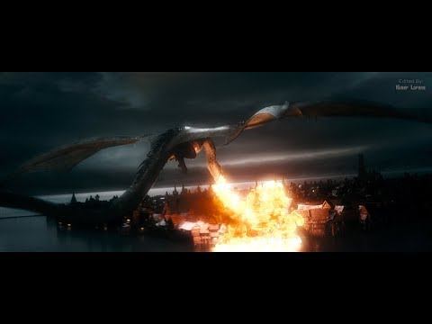 The Hobbit (2013) - Smaug Attacks the Lake Town - Only Action [4K]