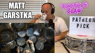Drum Teacher Reacts: MATT GARSTKA - Animals As Leaders - 'Tooth and Claw'   (2020 Reaction)