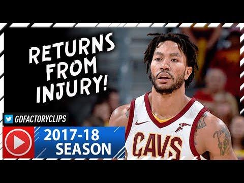 Derrick Rose Full Highlights vs Knicks (2017.10.29) - 15 Pts, Returns from Injury!