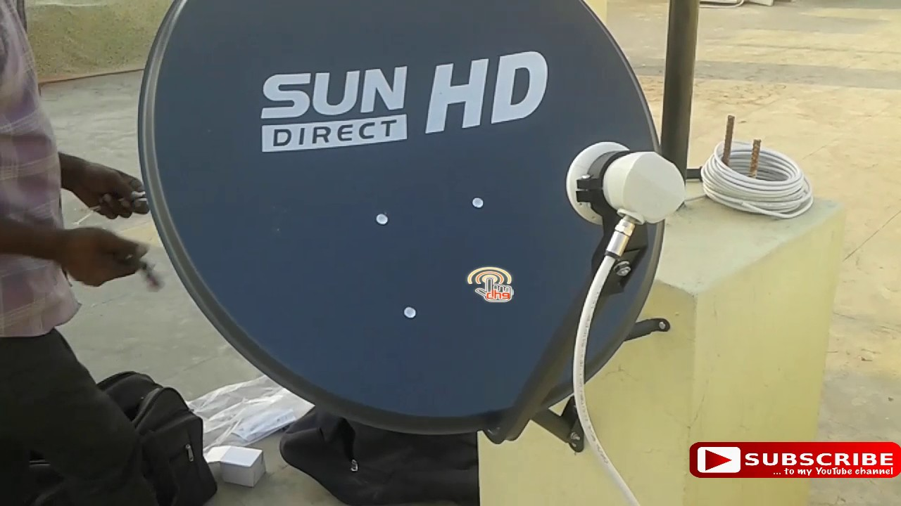 DTH Installation | Sun Direct dth | HD |Digital hub9 - YouTube