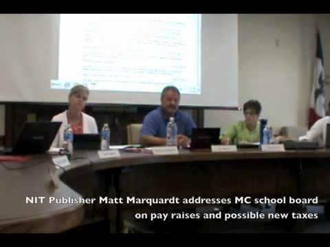 NIT Publisher Matt Marquardt addresses MC School Board - Jul 16, 2012.m4v
