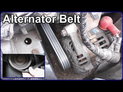 Alternator Belt Renewal  YouTube