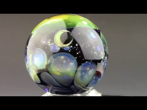 Space Nebula Glass Marble by Kenny Talamas (Flameworked borosilicate glass art) VGW