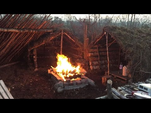 2 NIGHTS SOLO DEBRIS VILLAGE CAMP AND SHELTER BUILDING