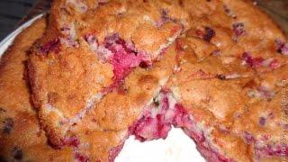 Простой пирог с малиной. Рецепты выпечки