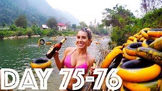 Tubing in Laos! | Day 75-76