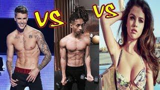 Justin Bieber vs Jaden Smith vs Selena Gomez Transformation 2018