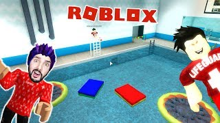 Roblox: FROM AQUAPARK! BATH ATTENDANT HOLDS KAAN TRAPPED IN THE INDOOR POOL! Swimming Pool Obby