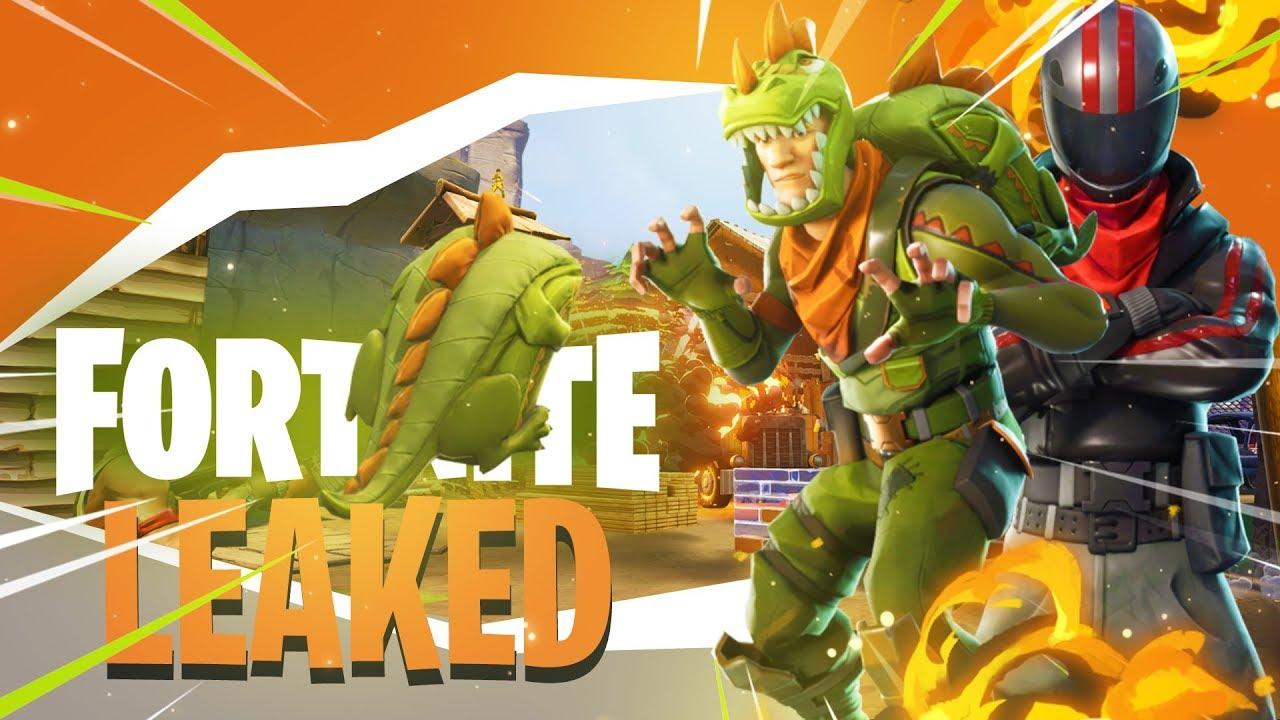 leaked legendary skins fortnite battle royale dinosaur biker more - dinosaur fortnite skin