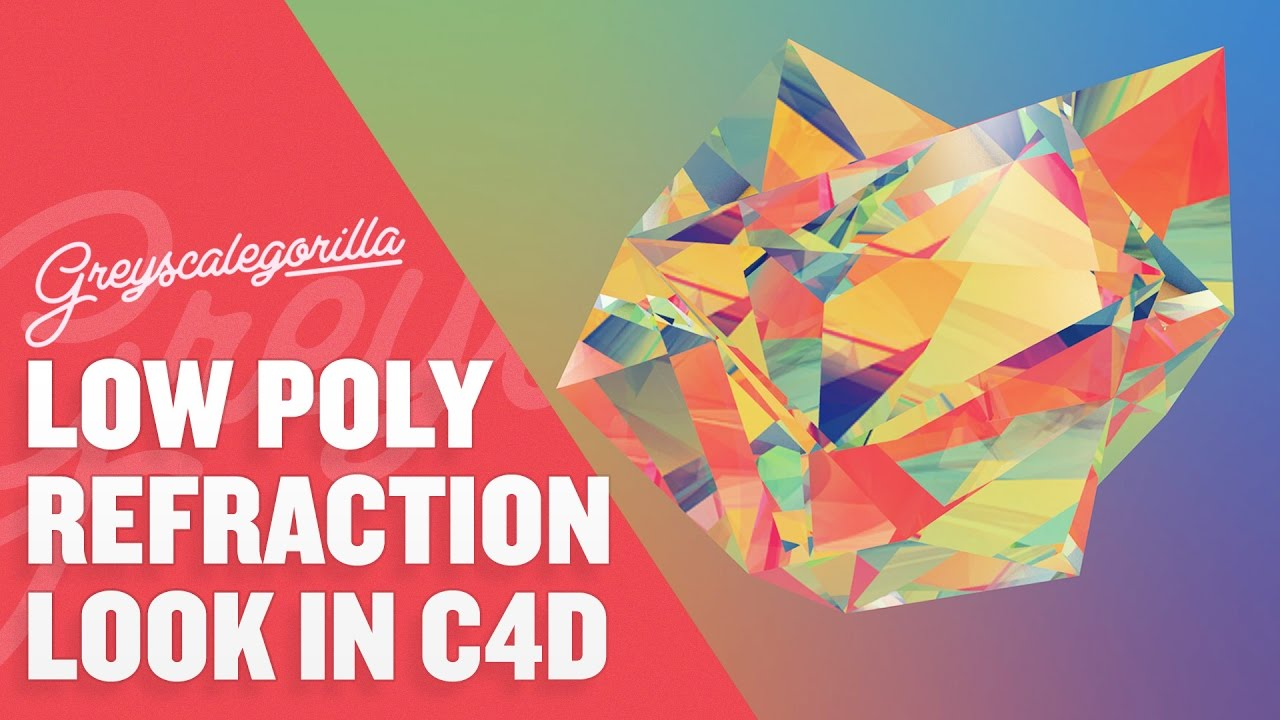 Render An Abstract Refraction Low Poly Look In Cinema 4D