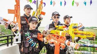 LTT Game Nerf War : Couple Warriors SEAL X Nerf Guns Fight Braum Crazy Betrayed SWAT Female