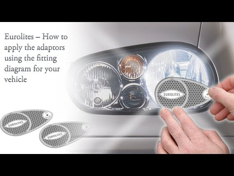 Eurolites -- How to apply the adaptors using the fitting diagram for your vehicle