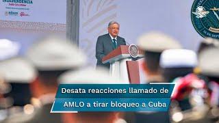 El presidente Andrés Manuel López Obrador volvió a causar polémica en redes sociales tras el llamado directo que hizo ante el presidente de Cuba y el embajador de los Estados Unidos, en el desfile por la independencia de México