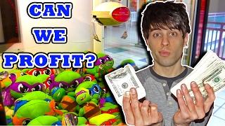 CAN WE PROFIT Winning at the Claw Machine? | Crane Machine Win Money in Profit Arcade Challenge!