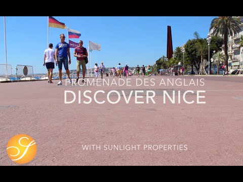 NICE (Côte d'Azur) - The best stroll on the FRENCH RIVIERA: Promenade des Anglais and beach