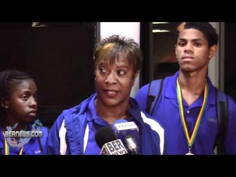 Donna Watson Carifta Track and Field Team Returns Bermuda April 26 2011